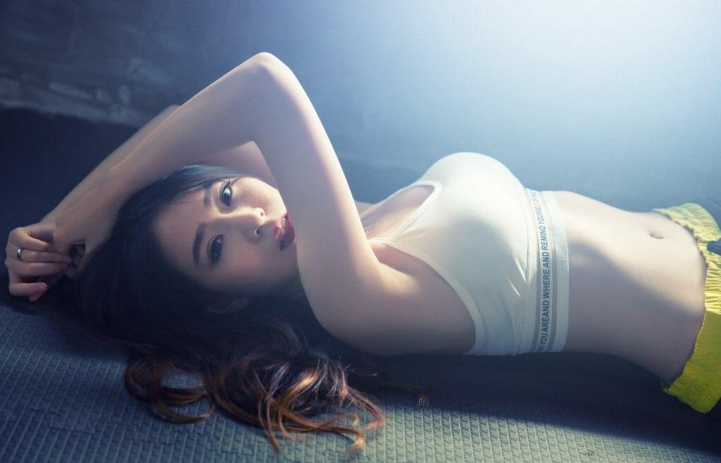 asian girl in underwear