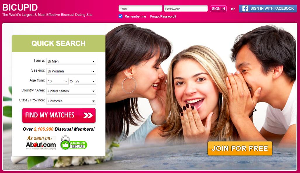 BiCupid main page