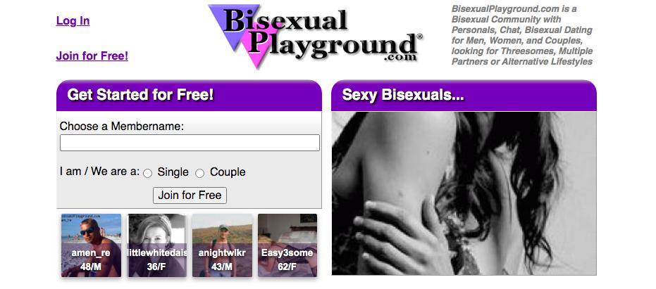 BisexualPlayground main page