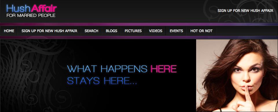 HushAffair main page