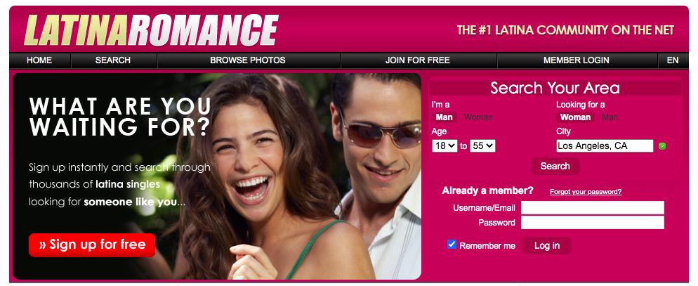 LatinaRomance main page