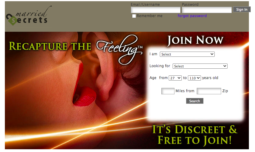Married Secrets main page