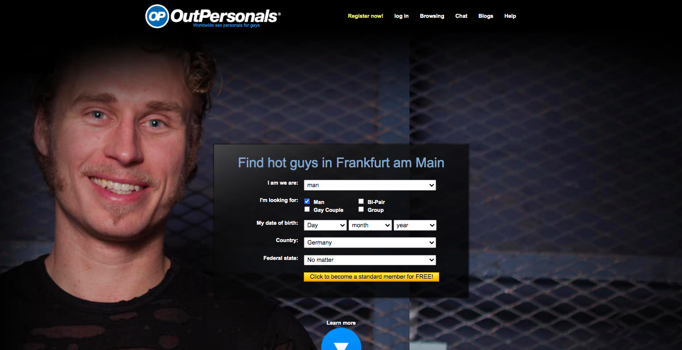 OutPersonals main page