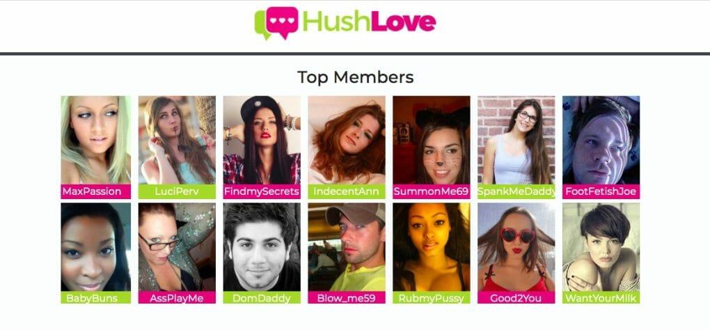 HushLove top members