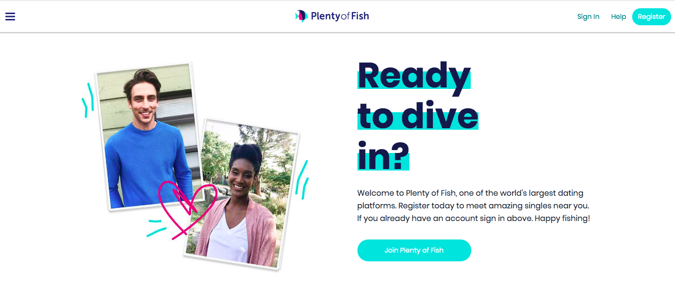 Plenty of Fish main page