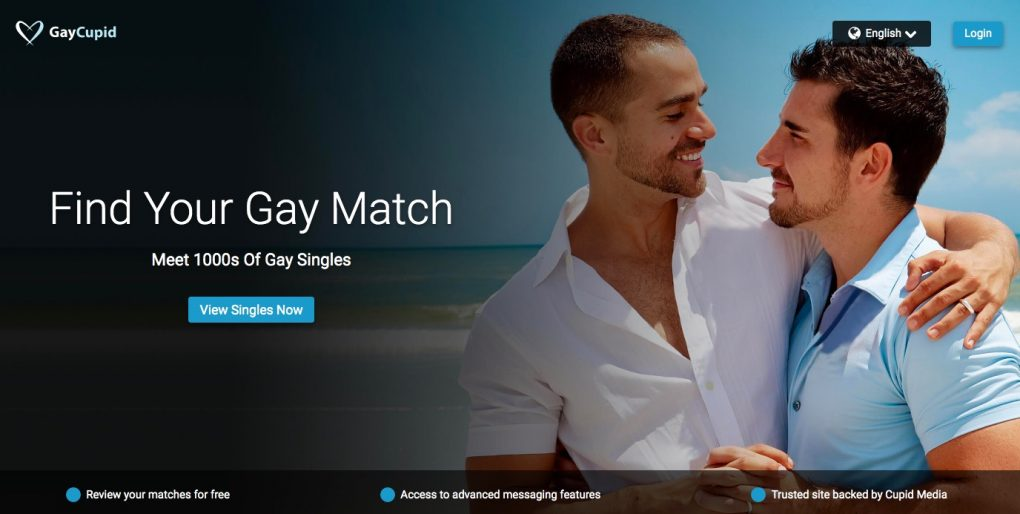 GayCupid main page