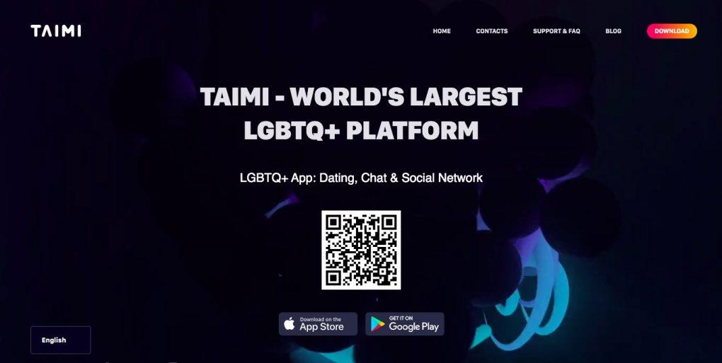 Taimi main page